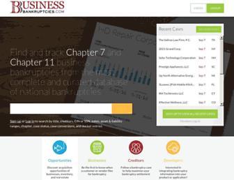 businessbankruptcies.com screenshot