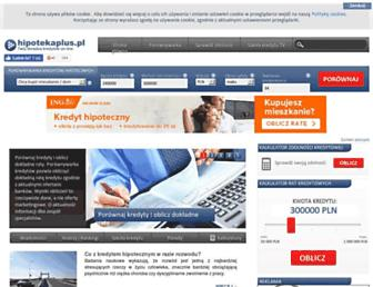 Main page screenshot of hipotekaplus.pl
