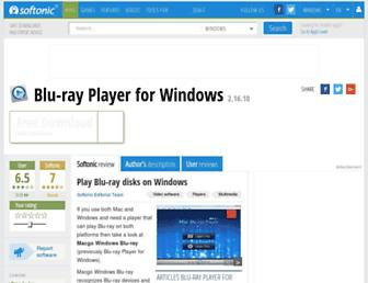 blu-ray-player-for-windows.en.softonic.com screenshot