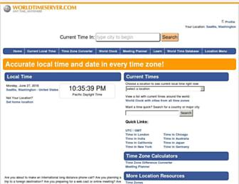 Thumbshot of Worldtimeserver.com