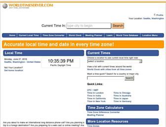 worldtimeserver.com screenshot