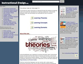 instructionaldesign.org screenshot