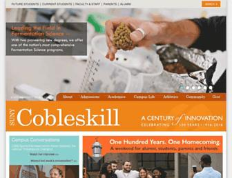 cobleskill.edu screenshot