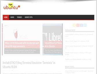 tipsonubuntu.com screenshot