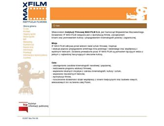 maxfilm.com.pl screenshot