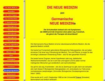 Main page screenshot of neue-medizin.de