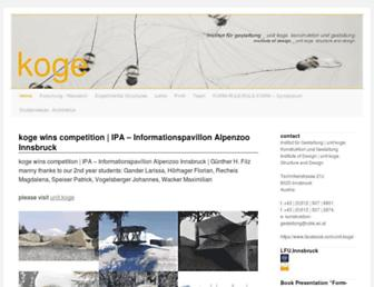 Main page screenshot of koge.at