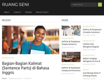 ruangseni.com screenshot