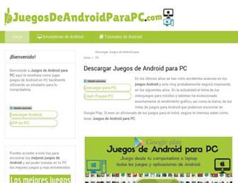 juegosdeandroidparapc.com screenshot