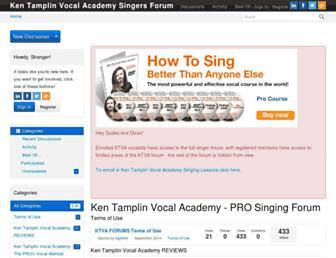 forum.kentamplinvocalacademy.com screenshot