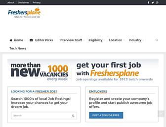 Thumbshot of Freshersplane.com