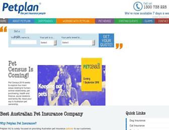 petplan.com.au screenshot