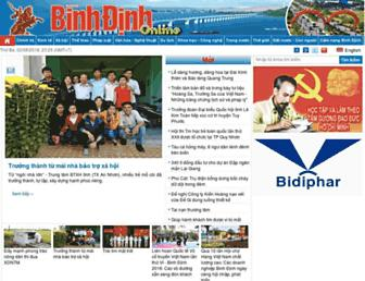 Main page screenshot of baobinhdinh.com.vn