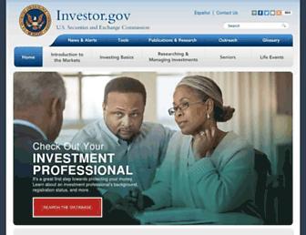 investor.gov screenshot