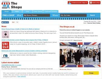 the-shops.co.uk screenshot