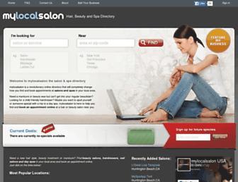 Thumbshot of Mylocalsalon.com