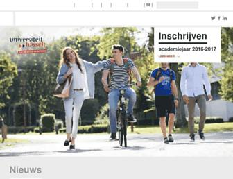 uhasselt.be screenshot