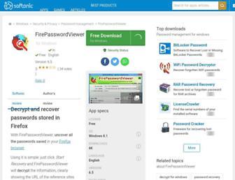 fire-password-viewer.en.softonic.com screenshot