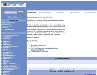 Main page screenshot of consumid.org