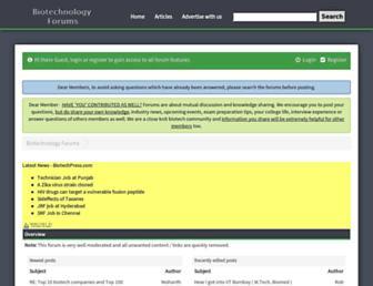 biotechnologyforums.com screenshot