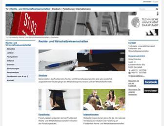 Main page screenshot of wi.tu-darmstadt.de