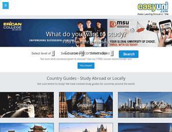 easyuni.com screenshot