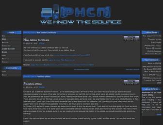 Main page screenshot of freak.phcn.de