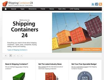 shippingcontainers24.com screenshot
