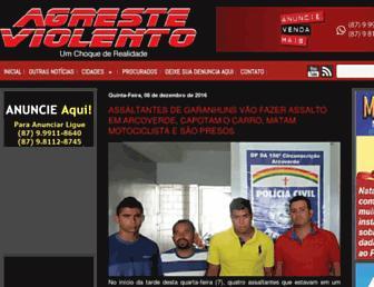 agresteviolento.com.br screenshot