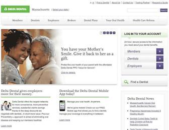 deltadentalma.com screenshot