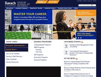 zicklin.baruch.cuny.edu screenshot