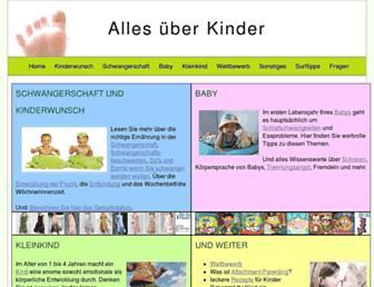 Main page screenshot of alles-ueber-kinder.net