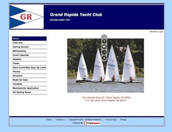 Main page screenshot of grandrapidsyachtclub.org