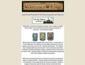 Main page screenshot of crosses.org