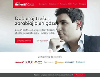 Main page screenshot of program-partnerski.helion.pl