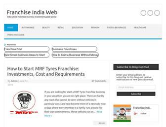 franchiseindiaweb.in screenshot