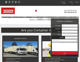 containertraders.com.au screenshot