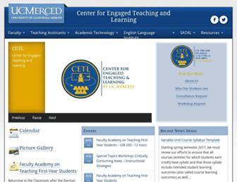 Main page screenshot of crte.ucmerced.edu