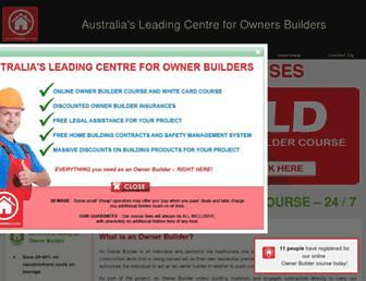 ownerbuildercentre.com.au screenshot