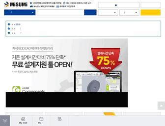 kr.misumi-ec.com screenshot