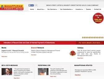manappuram.com screenshot