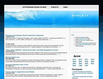 Main page screenshot of nordlb.lv