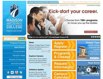 madisoncollege.edu screenshot