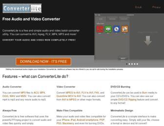 converterlite.com screenshot