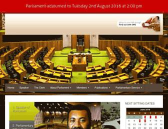 parliament.gov.pg screenshot