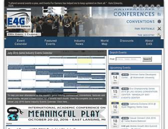 eventsforgamers.com screenshot
