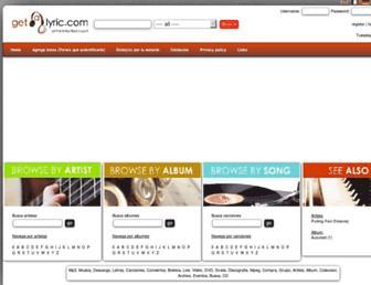 es.getalyric.com screenshot
