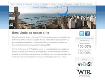 Main page screenshot of pop-ba.rnp.br