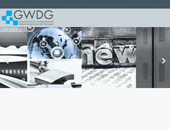 gwdg.de screenshot