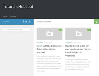 tutorialshubspot.com screenshot